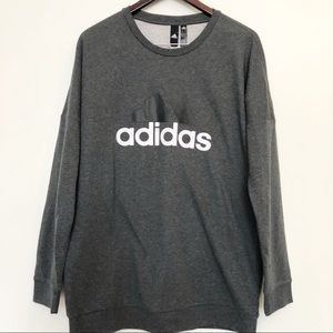 NWT Adidas Trifoil Grey sweat shirt size M